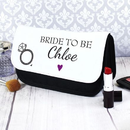 Personalised Wedding Bride To Be Make Up Bag